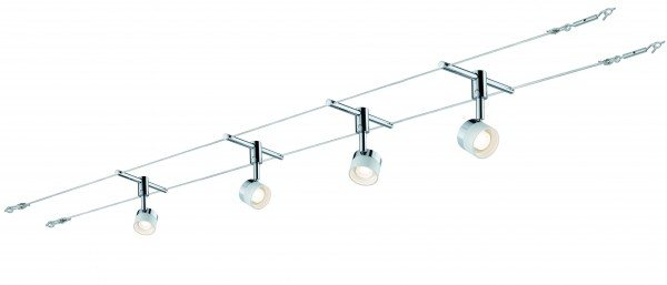 Paulmann Seil-Set, LED, 4x5W, Stage 230/12V, Weiß/Chrom