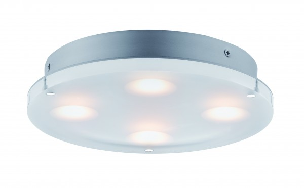 Paulmann Deckenleuchte rund Minor LED IP44 18W Satin, Acryl