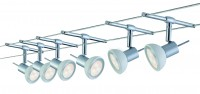 Paulmann Seil-Set, LED, 6x4W, Sheela 230/12V, Chrom matt/Opal