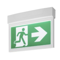SLV  P-LIGHT Emergency Exit sign big ceiling/wall, white