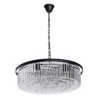 Loft Hängeleuchten matt black/metall transparent/crystal 10*60W E14