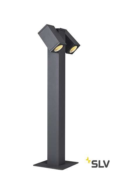 SLV THEO PATHLIGHT double QPAR51 Outdoor Stehleuchte anthrazit
