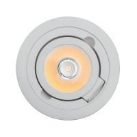 Techno Deckenleuchten white/metall 5W LED COB 550 Lm 3000K