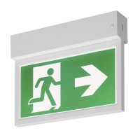 SLV  P-LIGHT Emergency Exit sign small ceiling/wall, white